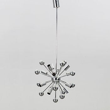 """PAUL DE HAAN, taklampa, """"Sputnik"""", Jolina Lightning, 1900-talets senare hälft."""