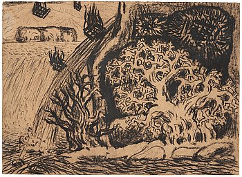 """338. Carl Fredrik Hill, """"In the Cave the Oak is Sheltered from the Flood""""."""