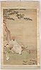 A hanging scroll, ink and color on silk, late qing dynasty.