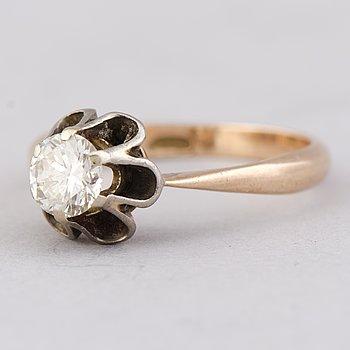 A RING, brilliant cut diamond, 14K gold.