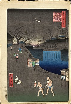 UTAGAWA HIROSHIGE I, träsnitt 1857.