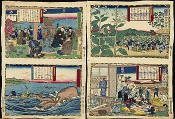 UTAGAWA HIROSHIGE III, 25 crepe print 1877.