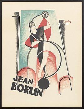 SERGE GLADKY, färglitografisk affisch.