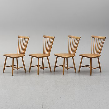A set of four 'Lilla Åland' chairs by Carl Malmsten.