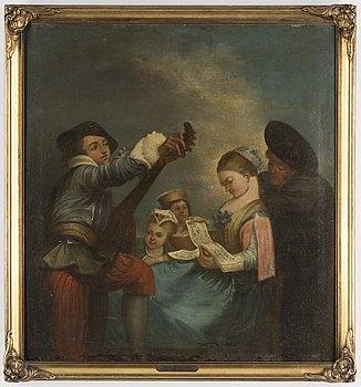 JEAN-ANTOINE WATTEAU, after, oil on canvas.