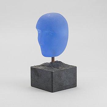 BERTIL VALLIEN, skulptur, glas, signerad,  Atelier. Kosta Boda.
