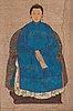 A chinese ancestor portrait, 20th century.