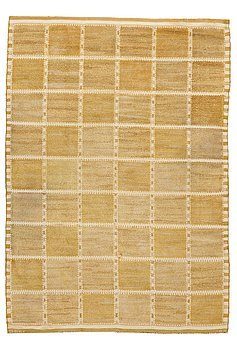 """190. Barbro Nilsson, A CARPET, """"Gyllenrutan"""", knotted pile in relief, ca 251,5 x 175,5 cm, signed AB MMF BN."""