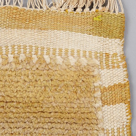 """Barbro nilsson, a carpet, """"gyllenrutan"""", knotted pile in relief, ca 251,5 x 175,5 cm, signed ab mmf bn."""