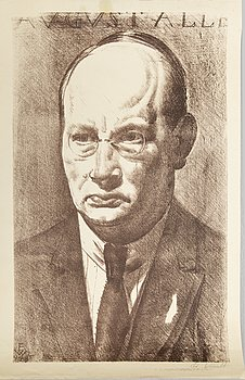 EDUARD WIIRALT, litograph, signed, signed and dated 1925 in the print.