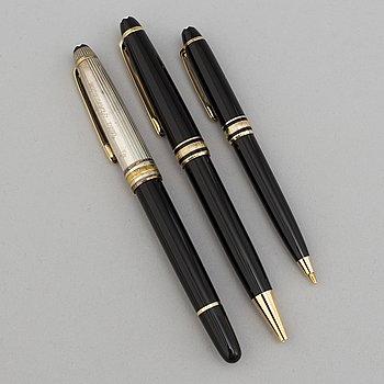 """MONTBLANC, pennor, 3 st, """"Meisterstück."""