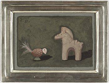 GRETA GERELL, olja på papp-pannå, signerad och daterad -82.