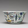 A famille verte punch bowl, qing dynasty, kangxi (1662-1722).