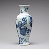A blue and white baluster vase, qing dynasty, kangxi (1662-1722).