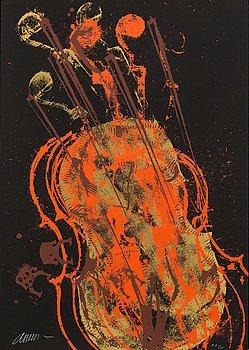 FERNANDEZ ARMAN, färgserigrafi, signerad och numrerad E.A 1/25.