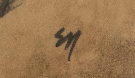 Elvi maarni, mixed media, signed