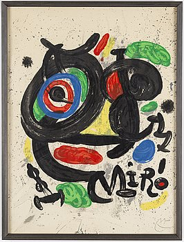 JOAN MIRÓ, lithograph in color, signed and numbered 24/150.