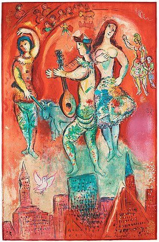 """Marc chagall after, """"carmen""""."""