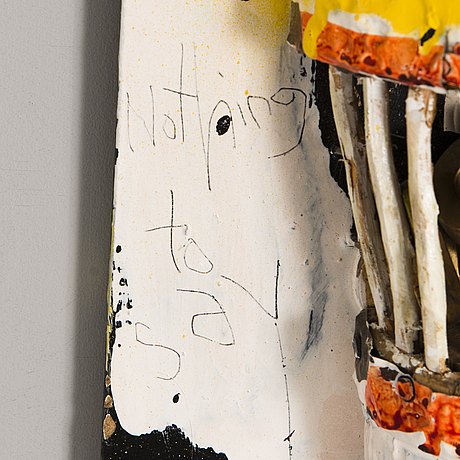 Jani hÄnninen, relief, mixed media, a tergo signed and dated 1999