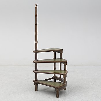 A library ladder from the late 20th century.