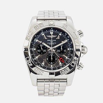 "BREITLING, Chronomat GMT, chronometre, ""Tachymetre"", kronograf, armbandsur, 47 mm."
