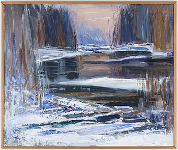 BENGT ELLIS, oil on canvas, signed and dated -82.