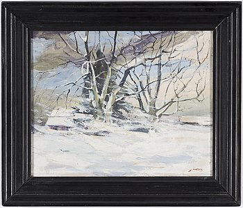 AXEL LIND, oil on canvas, signed Axel Lind.