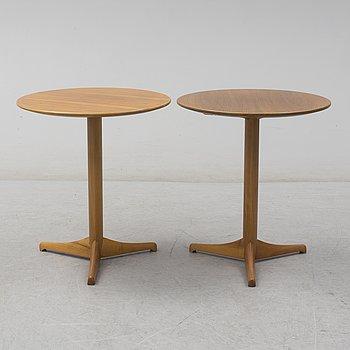 A pair of Kerstin Hörlin-Holmquist 'Äpplet' tables, for Nordiska Kompaniet, 1965.