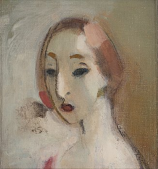 "355. Helene Schjerfbeck, ""Ung kvinna"" (Young woman)."