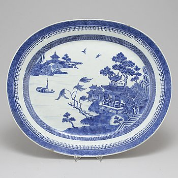 STEKFAT, kompaniporslin. Qingdynastin, Qinalong (1736-95).