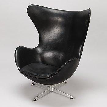 """ARNE JACOBSEN, A 1960s arm chair """"Egg chair"""" designed for Fritz Hansen, Denmark."""