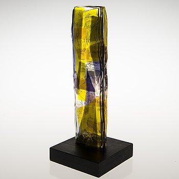 PAULI PARTANEN, a glass sculpture signed Pauli Partanen 2011.