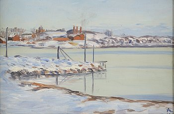 ANTON LINDFORSS, oil on canvas, signed and dated -08.