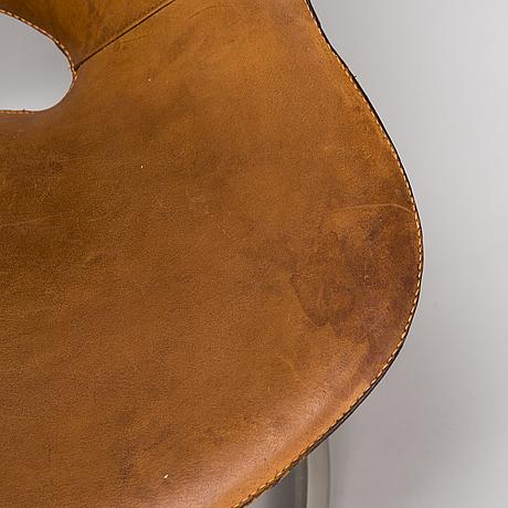 Preben fabricius & jørgen kastholm, a pair of 1960s 'scimitar' chairs, ivan schlechter.