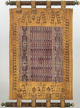 A semaintique Qajar leather kilim ca 130 x 83 cm.