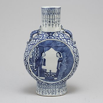A late 19th century moon flask.