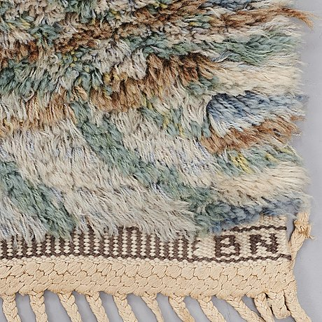 "Barbro nilsson, a carpet, ""marina, ljus"", knotted pile, ca 227 x 151 cm, signed ab mmf bn."