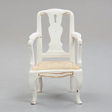 A children's armchair, swedish rococo, 18th century.