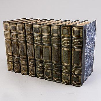 """BOKVERK, vol I-IX, """"Den introducerade Svenska Adelns Ättartavlor"""", Gustaf Elgenstierna, Stockholm, 1925-36."""