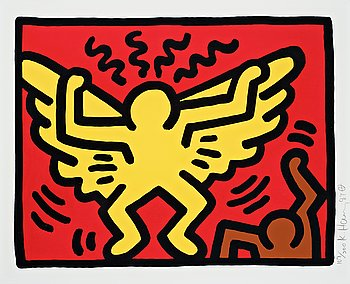 """316. Keith Haring, """"Untitled, Pl. 1"""", from """"Pop Shop IV series""""."""