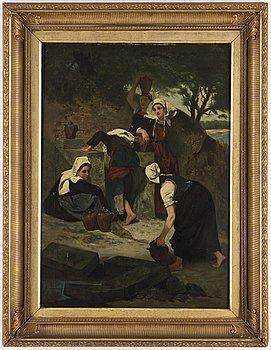OKÄND KONSTNÄR, olja på duk, England, 1800-tal.