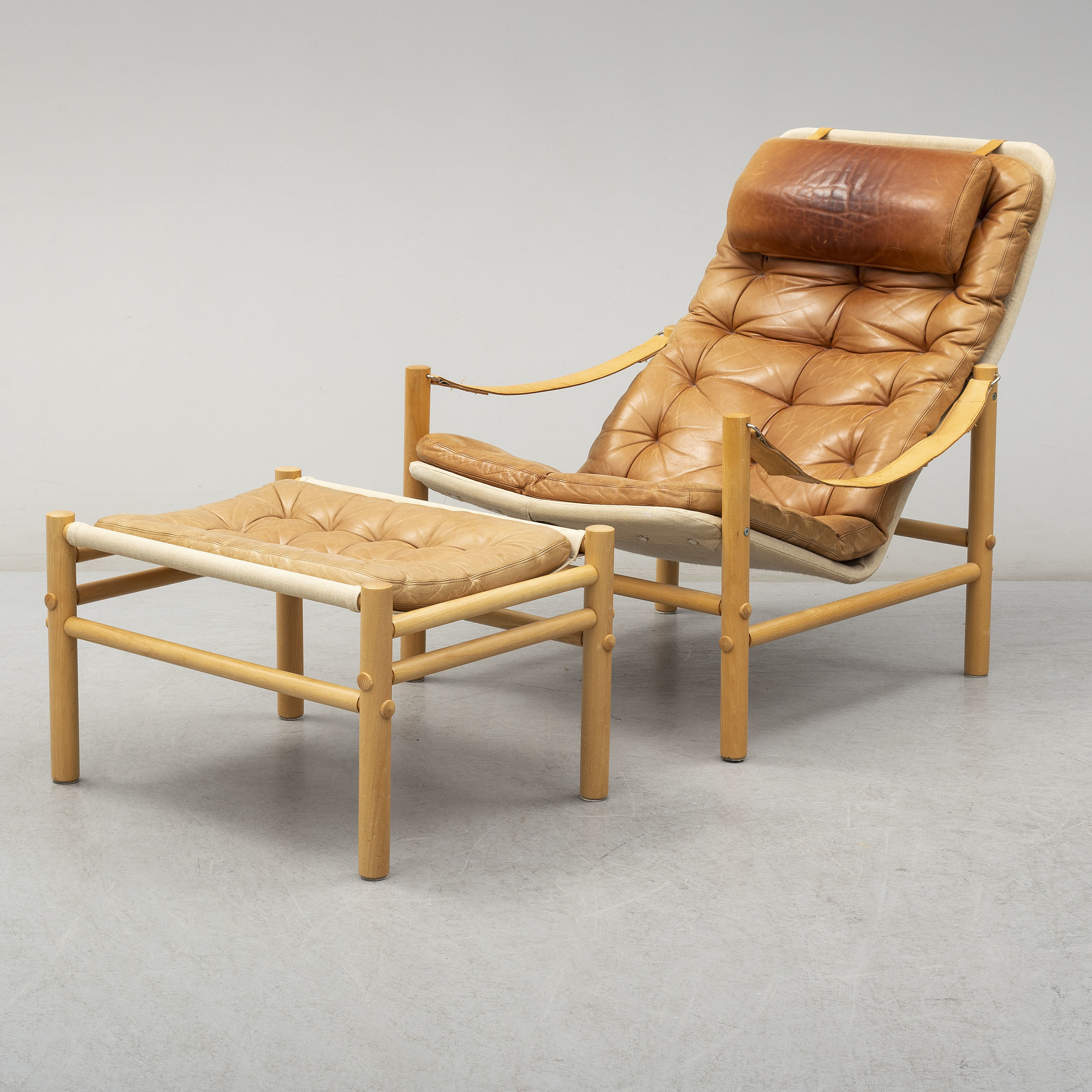 Cool Bror Boije A Junker Leather Covered Easy Chair And Dailytribune Chair Design For Home Dailytribuneorg