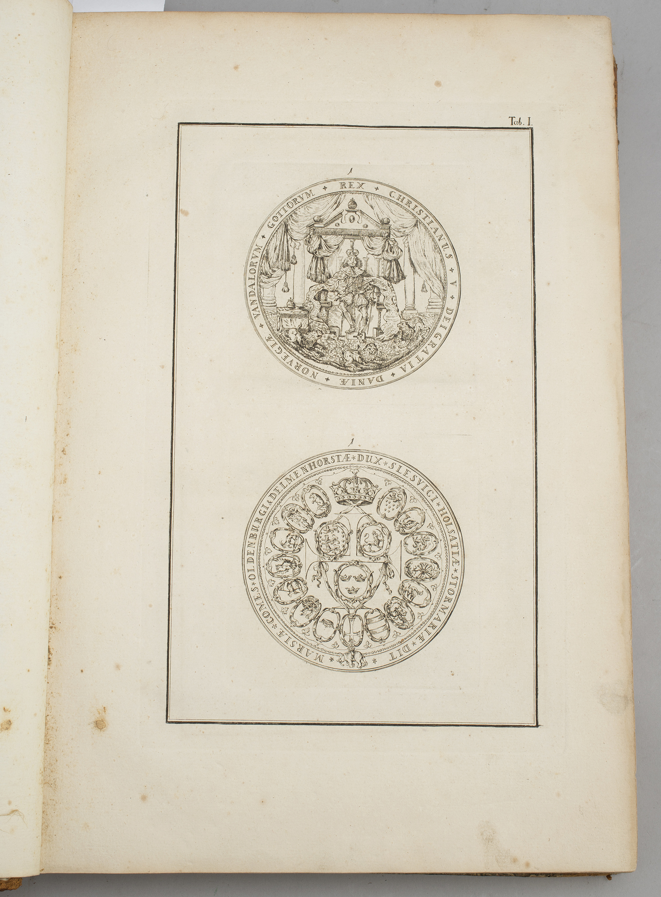 BOOKS, three volumes, 349 engraved plates of Danish coins
