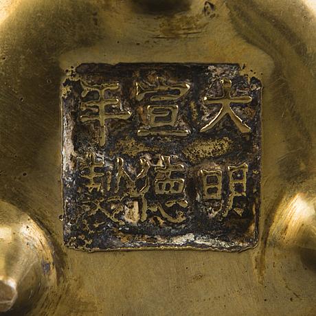 RÖkelsekar, 3 st, kina, 1800 tal