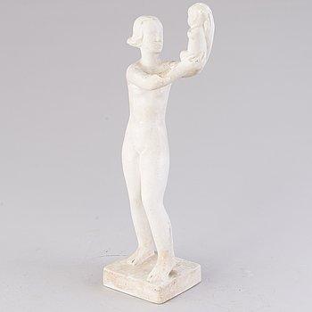 VIKTOR JANSSON,  skulptur, gips, signerad Faffan J.