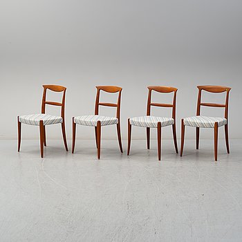 CARL-EWERT EKSTRÖM, stolar, 4 st, Allb. Johansson & Sönder, Hyssna, 1900-talets andra hälft.