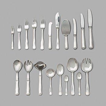 "130. Harald Nielsen, a set of 138 pieces of ""Old Danish"" sterling and stainless steel flatware, Georg Jensen, Copenhagen, 1947-77."