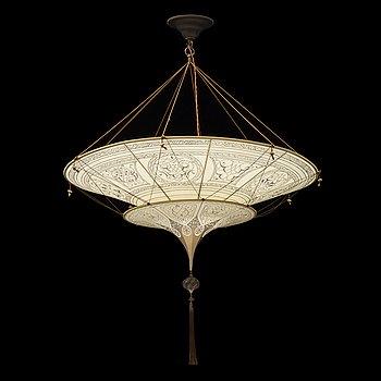 """TAKLAMPA, Italien, """"Silk Scheherazade 2 tiers Geometric"""", Fortuny, 2000-tal."""