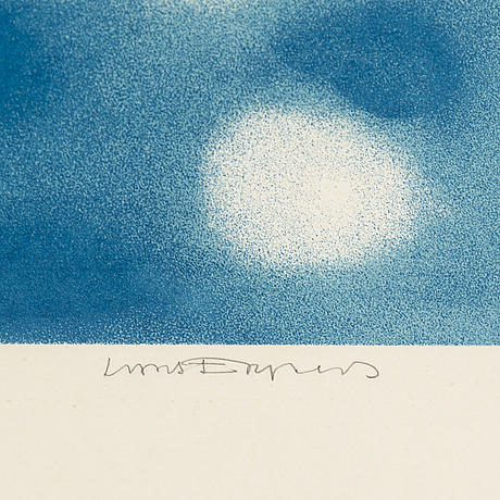 Lars englund, litograph, 1977, signed hc.