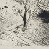 "Marc chagall, etsning ""la basse cour"" ur: ""les âmes mortes"", signerad i plåten"